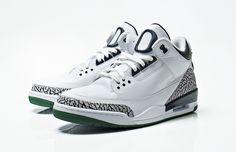 "Air Jordan 3 ""Oregon Ducks"" Home"