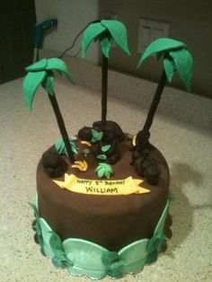 Gorilla Cake Cakes Jungle Birthday Cakes Birthday