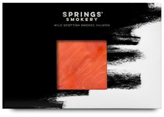 Packaging for premium smoked salmon producer Springs' Smokery by graphic design studio Distil