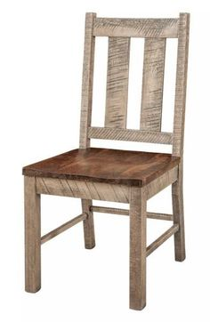 Amish Alamo Dining Room Chair Add a rich, rustic look to dining room or kitchen with Alamo Dining Chairs. Choose stain as well as upholstery options. Made in America. #diningchairs #rusticfurniture