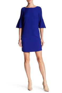 Laguna Crepe Bell Sleeve Dress