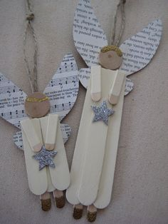 Angel Popsicle Stick Ornaments - just the picture, no directions