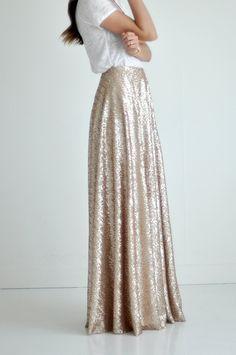 Bree Lena Custom Sequin Full Maxi Skirt