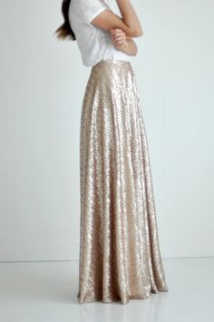 Bree Lena Custom Sequin Full Maxi Skirt