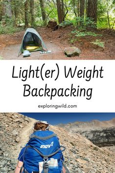 For backpackers who want a little less weight to haul around, here are tested tips for reducing pack weight without spending a ton of money or leaving important things behind. #backpacking #hiking #backpackinggear