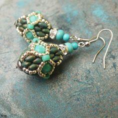 superduo beaded bead earrings by gianelle