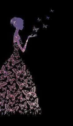 A girl made up of butterflies. Butterfly Wallpaper Iphone, Flower Background Wallpaper, Glitter Wallpaper, Cute Wallpaper Backgrounds, Flower Backgrounds, Pretty Wallpapers, Colorful Wallpaper, Happy Wallpaper, Emoji Wallpaper
