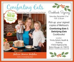 Comforting Eats NOW available & Book signing this weekend! Order your book NOW in time for Christmas!