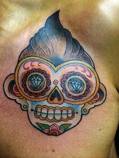 Tattoo Sugar skull monkey Tattoo Rock 'n Roll monkey