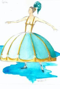 ItalianDesignNetwork_Valeria Plasmati _Interior & Exibit designer_ _Costume & set designer_ _Illustrator_ Opera.  Costume per Moulin Rouge