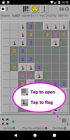 Minesweeper Dreams has now option to seitch type of tap to open tiles/flag right on thr play screen Game App, Google Play, Tiles, Flag, Dreams, Wall Tiles, Science, Tile, Flags
