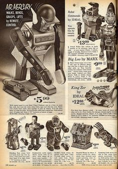King-Zor, Big-Loo, Whistling Tree, Haunted House, Creeping Crab, etc. - 1963 Sears Christmas Catalog <3