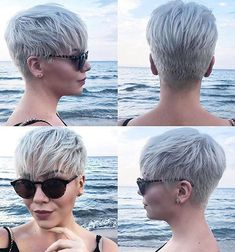 Today we have the most stylish 86 Cute Short Pixie Haircuts. We claim that you have never seen such elegant and eye-catching short hairstyles before. Pixie haircut, of course, offers a lot of options for the hair of the ladies'… Continue Reading → Short Hair Cuts For Women, Short Hairstyles For Women, Hairstyles Haircuts, Edgy Short Hair Styles, Back Of Short Hair, Stylish Hairstyles, Ladies Hairstyles, Long Hair, Short Pixie Haircuts