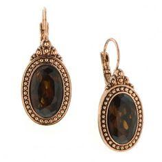 Majestic Amber Topaz Drop Earrings
