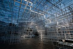 Sou Fujimoto's Giant Serpentine Pavilion Converted into a Storm of LED Lightning by UVA  http://www.thisiscolossal.com/2013/07/sou-fujimoto-serpentine-pavilion/
