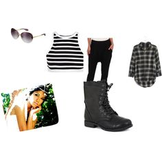 Jhene Aiko Inspired by sunnymuffins96 on Polyvore featuring T By Alexander Wang, Madewell, Alternative, Pierre Dumas and Aiko