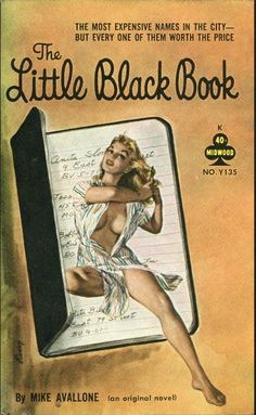 PAUL RADER - The Little Black Book by Mike Avallone - 1961 Midwood Y135