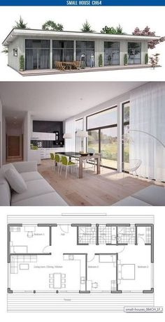 Ideas For Kitchen Small Cottage House Plans Small Cottage House Plans, Small Cottage Homes, Small House Floor Plans, Modern House Plans, Small House Plans, Container House Plans, Container House Design, Small House Design, Container Homes