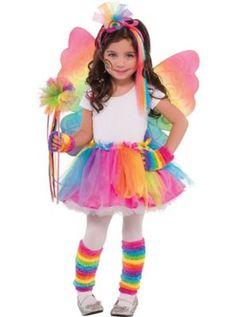 Girls Rainbow Fairy Costume