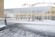 frundgallina · Reorganization of the train station square in La Chaux-de-Fonds Contemporary Architecture, Landscape Architecture, Urban Ideas, Cardio At Home, Public Square, Urban Planning, Train Station, Outdoor Gardens, Marketing