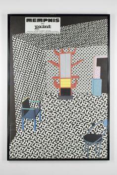 Artist/Designer: Christoph Radl b. Switzerland Title: Memphis per Print 1983 Medium: Poster on paper Dimensions: x Vertical Manufacturer: Abet Laminati Details: Important and rare poste Poster On, Poster Prints, Memphis Design, 2d Design, Landscape Prints, Paper Dimensions, Game Art, Pop Art, Memphis Milano