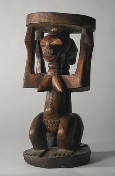 Songye-Luba Male and Female Caryatid Stool, Democratic Republic of the Congo   Lot   Sotheby's