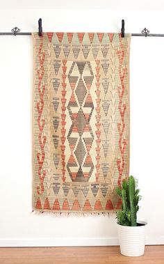 """ON SALEOriginally $495 now only $445 Add some sophisticated bohemian design to your home with this amazing vintage Kilim from Turkey72""""L x 40""""W"""