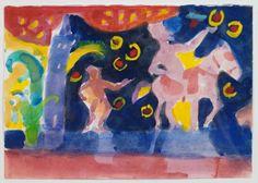 Ελ: 2007, ακουαρέλα σε χαρτί, 14,5Χ21εκ / En: 2007, watercolour on paper, 14,5Χ21cm Artwork, Painting, Work Of Art, Auguste Rodin Artwork, Painting Art, Artworks, Paintings, Painted Canvas, Illustrators
