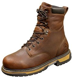 Rocky Boots Rocky IronClad Bridle Brown Work Boots Style 8 Inch Men Boots FQ0005693