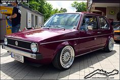Purple Mk1 VW Golf on BBS