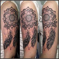 Image result for mandala dreamcatcher tattoo