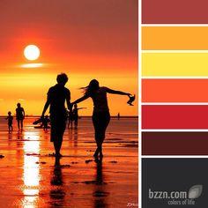 Sunset Color Pallete. For some sort of artwork.