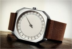 """""""slow watch"""" .. shows you the progress of the day .. and not get distracted by ticking seconds"""