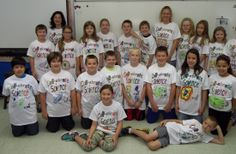 Cell-ebrate Science t-shirts!!!!   I found it on Pinterest and jumped right at the chance to make them.  My students were thrilled with the idea of making t-shirts.  I have even had many students wear them to school since.  I received positive feedback from parents as well. I used fabric markers instead of fabric paints - and they worked out very well. Here's the direct link to my science page e. http://grade5sws.weebly.com/science.html  Thank you so much!!!!  --  Stacey Tarbell