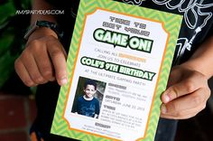 GAME TRUCK Gamer Personalized Photo Birthday Party by lulucole, $10.00  #gametruck #party #invitations