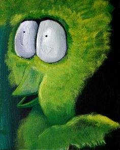 Tiny Pupils the Traffic Cop   George Pearlman, Monster Series #monster #painting