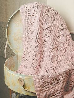 Knit One, Crochet Too Patterns - Heirloom Hearts Baby Blanket Pattern - Large Photo at Jimmy Beans Wool