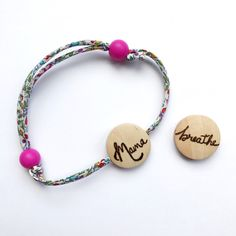 "New liberty bracelet with ""Mama"" bead. Can be personalised. Perfect for Mother's Day!"