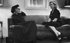 Dame Edith Sitwell and Marilyn Monroe