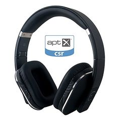 August EP650 Bluetooth Wireless Stereo NFC Headphones (Black)