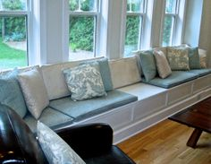 Awesome idea for storage and function in mud room or back porch. Built-ins to Love! How to add character and value to your home with custom millwork. Window Seat Storage, Window Seats, Room Window, Built Ins, Home Projects, Design Projects, Home Organization, My Dream Home, Diy Home Decor