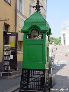 Phone booth - finland visit helsinki, telephone booth, vintage phones, old Visit Helsinki, Baltic Cruise, Seed Shop, Telephone Booth, Vintage Phones, Old Phone, Street Furniture, Outdoor, City