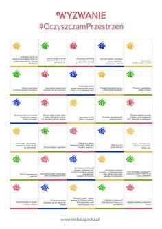 Wyzwanie OczyszczamPrzestrzeń Journal Challenge, Science Notes, Organize Your Life, Dear Diary, Good To Know, Bujo, Cleaning Hacks, Life Hacks, House Hacks