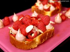 Brioche French Toast, Raspberry & Piquillo Pepper with Smoked Sweet Chilli - Meilleur du Chef
