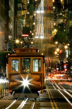 California Street Cable Car, San Francisco ,CA Being able to do the one arm hang from a crowded cable car was one of the delights of my life! - Best Cable Car Photos in San Francisco Places Around The World, Oh The Places You'll Go, Places To Travel, Places To Visit, Around The Worlds, Car Places, Wonderful Places, Great Places, Beautiful Places