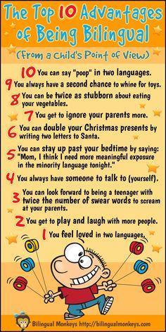 "Yes, we love our kids in 2 languages! ""Top 10 Advantages of Being Bilingual"""