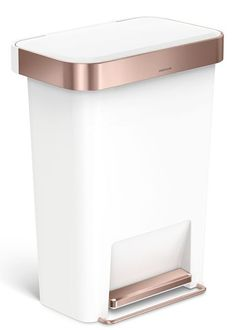 Rose Gold Trash Can by Simple Human