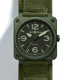 Bell & Ross khaki ceramic watch //