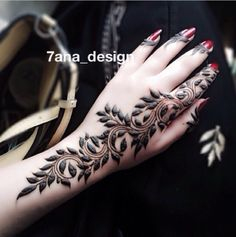 Tolles Design für ein Henna Tattoo auf der Hand