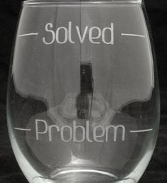 Problem Solved Set Of 2 Stemless Wine Glasses Mothers Gifts Valentines Day Gift Birthday